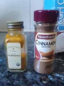 cinnamon and turmeric