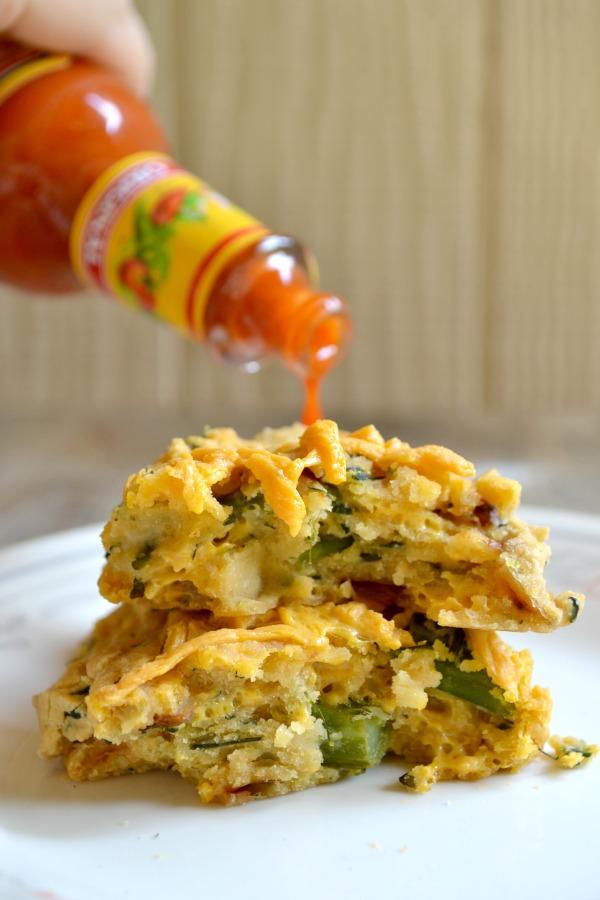 cheesy broccolini breakfast biscuits
