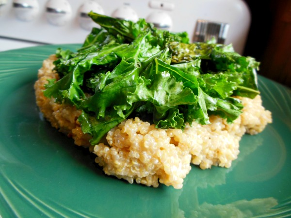 cheesy quinoa and kale