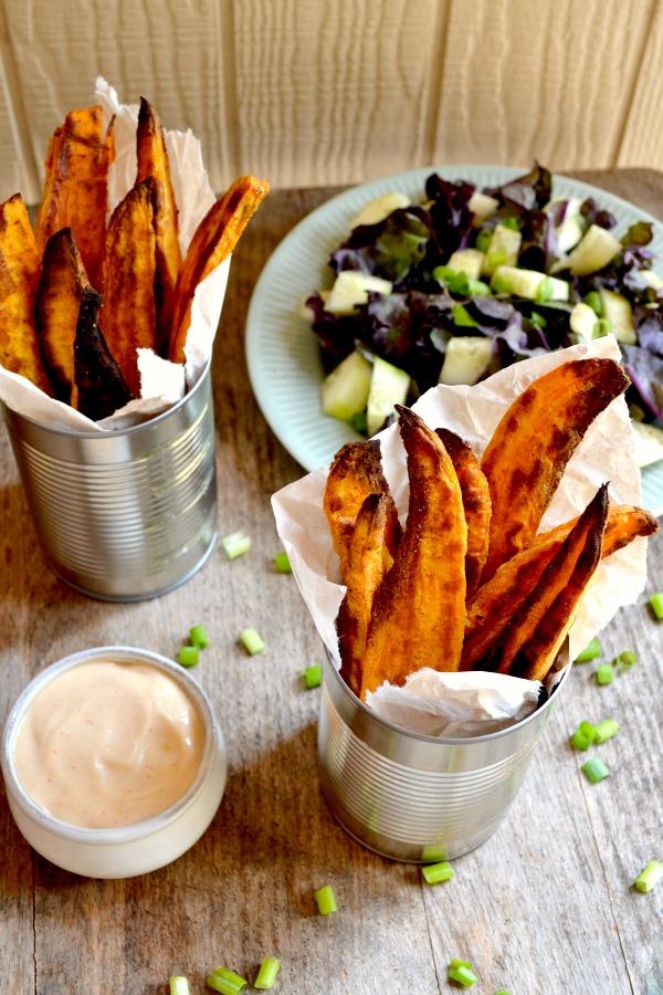 sweet potato fries with magic sauce