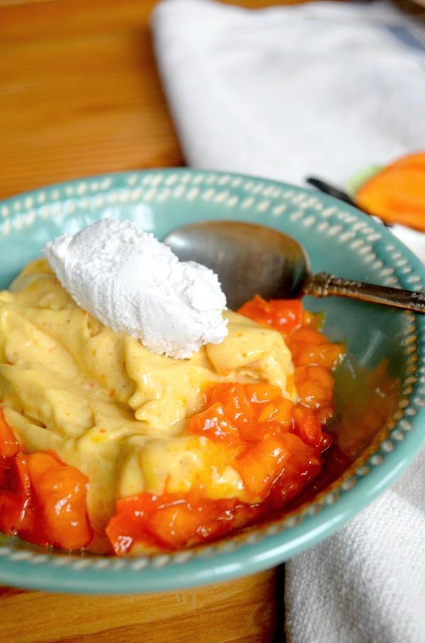 turmeric persimmon nice cream