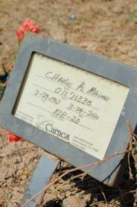 new grave marker
